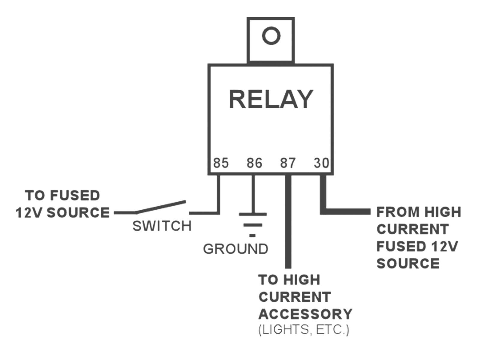 New Wiring Diagram For 40 Amp Relay  Diagram  Diagramtemplate  Diagramsample In 2019