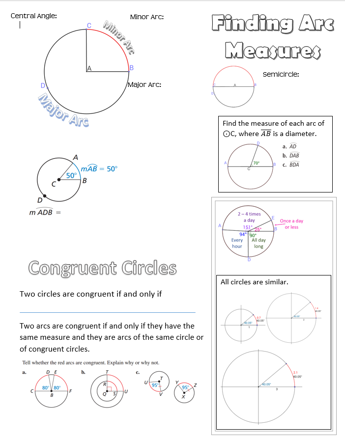 Chords Secants And Tangents Oh My Math Formulas Tangent Math Lessons