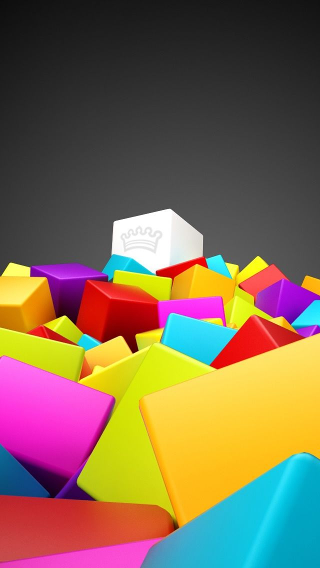 3D Colorful Squares IPhone 5s Wallpaper