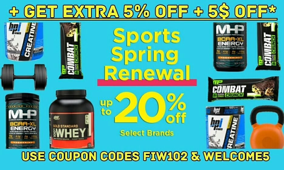Save Up To 20 On Select Sports Spring Renewal Items Sport Nutrition From Optimum Nutrition Muscletech Scivati Optimum Nutrition Sports Nutrition Muscletech