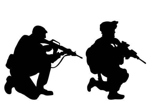Patriotic Soldier Silhouette Vector Download Soldier ...