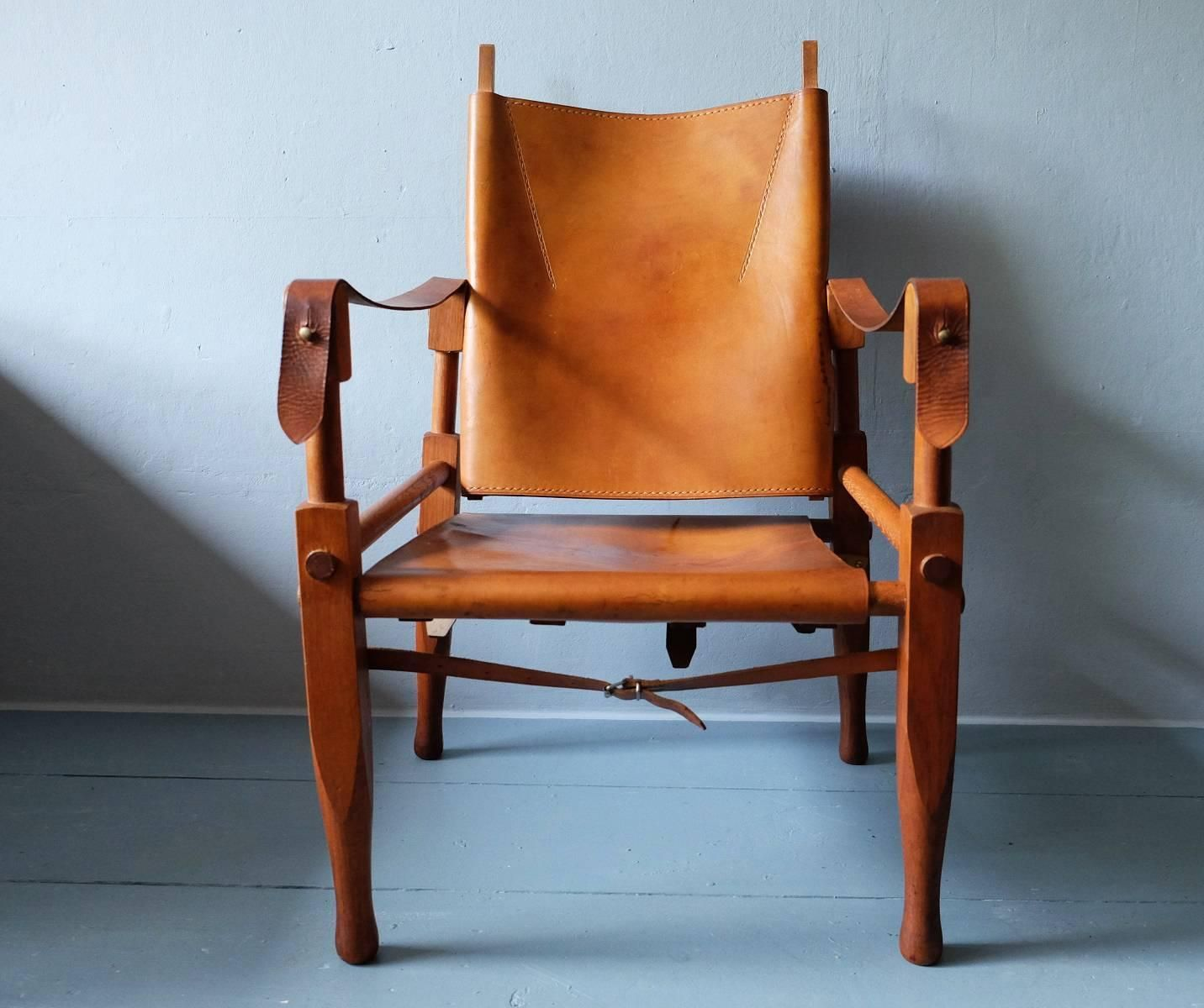 Safari Chair Designed by Wilhelm Kienzle for Wohnbedarf, 1950s | From a unique collection of antique and modern chairs at https://www.1stdibs.com/furniture/seating/chairs/