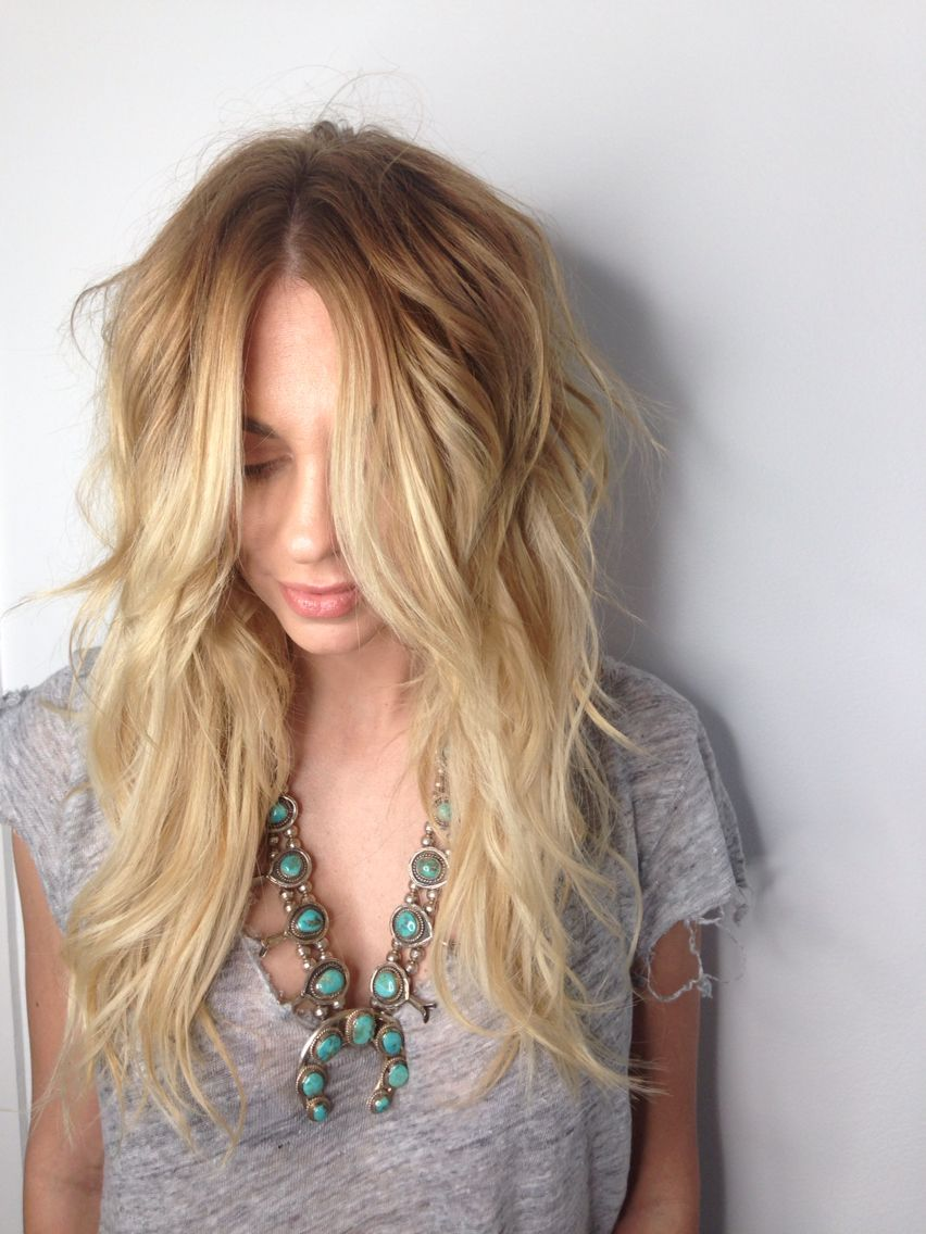 Balayage Warm Blonde Color Melt Andie Jones Hair Balayage