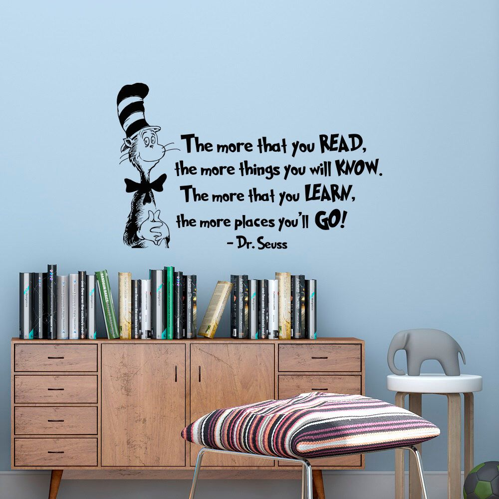 Wall Decor And More: The More That You Read Wall Decal DR SEUSS QUOTES Cat In