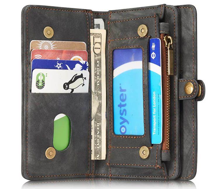 Caseme iphone 7 zipper wallet detachable 2 in 1 folio case