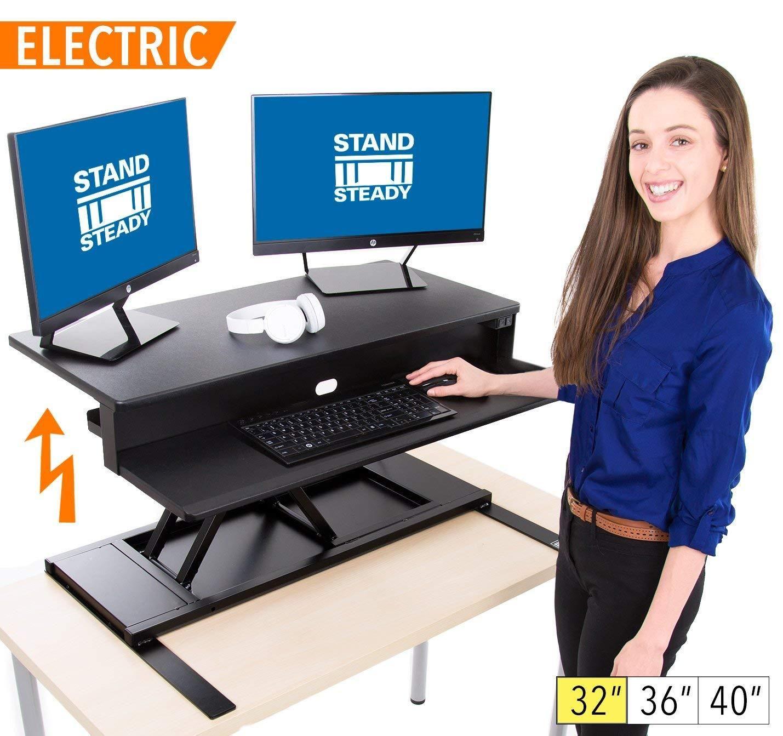Adjustable Height Desk Computer Screens Home Office
