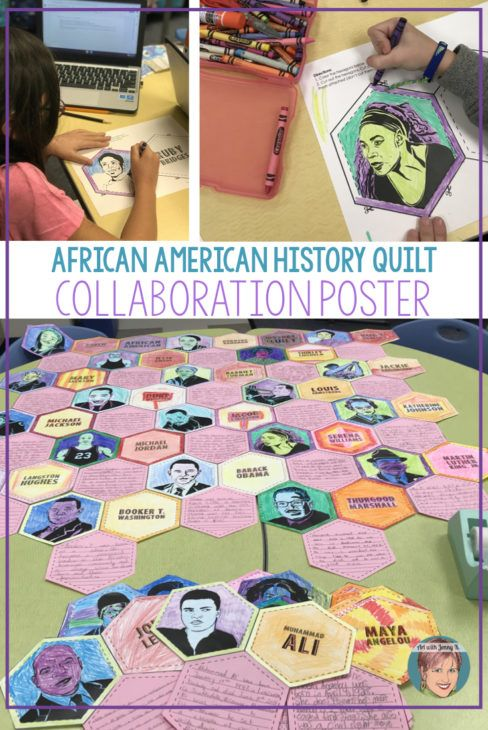 "Photo of Black History Month Activity | Collaboration ""Quilt"" Poster – Art with Jenny K"