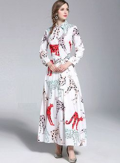 fe316619e2c Floral Print Sleeveless Oversize Maxi Dress in 2019