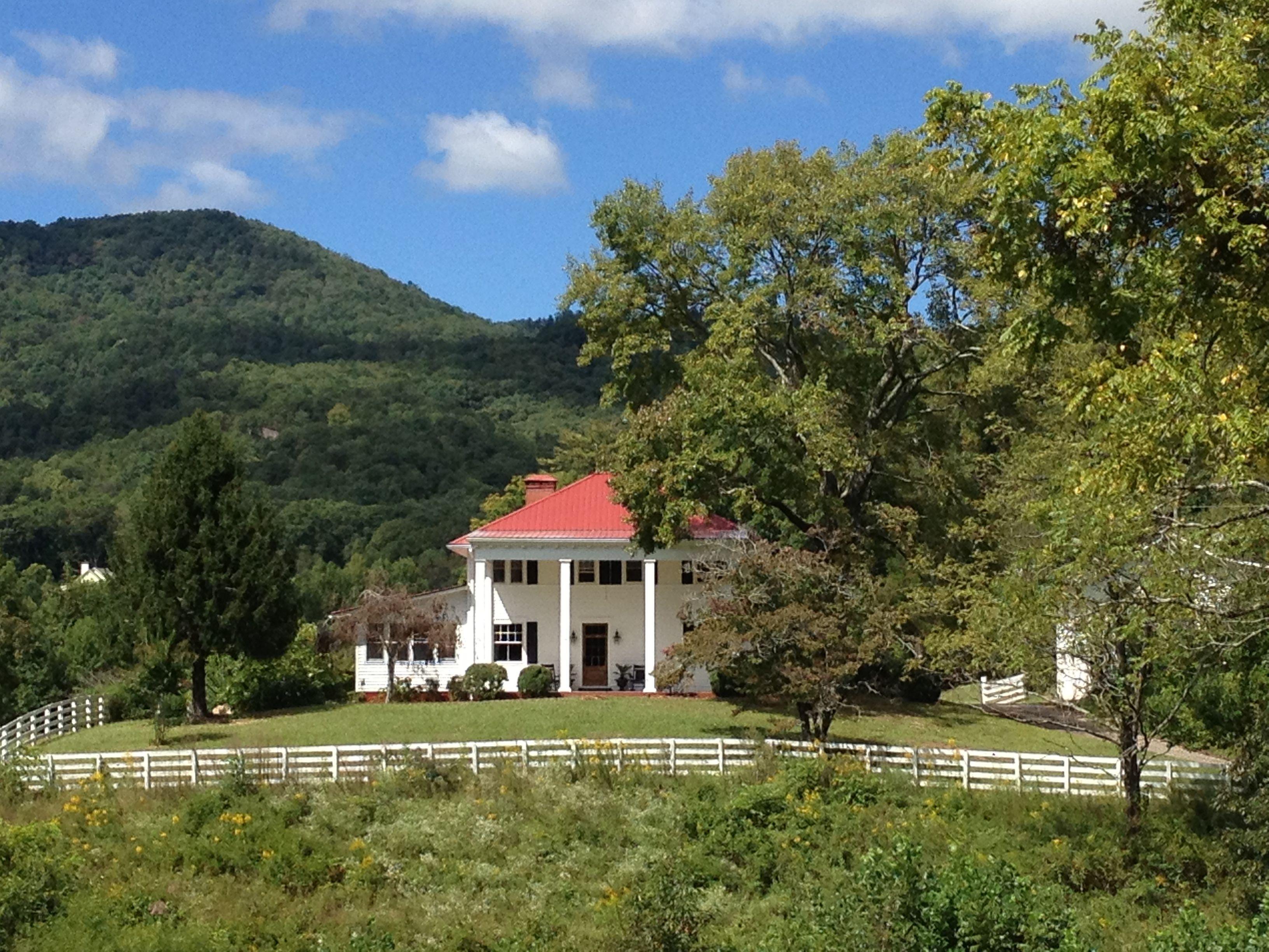Beautiful day at Mountain Laurel Farm near Helen, GA, in