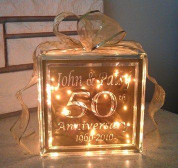 50th Anniversary Glass Block 35 Xpressablescom Xpressables