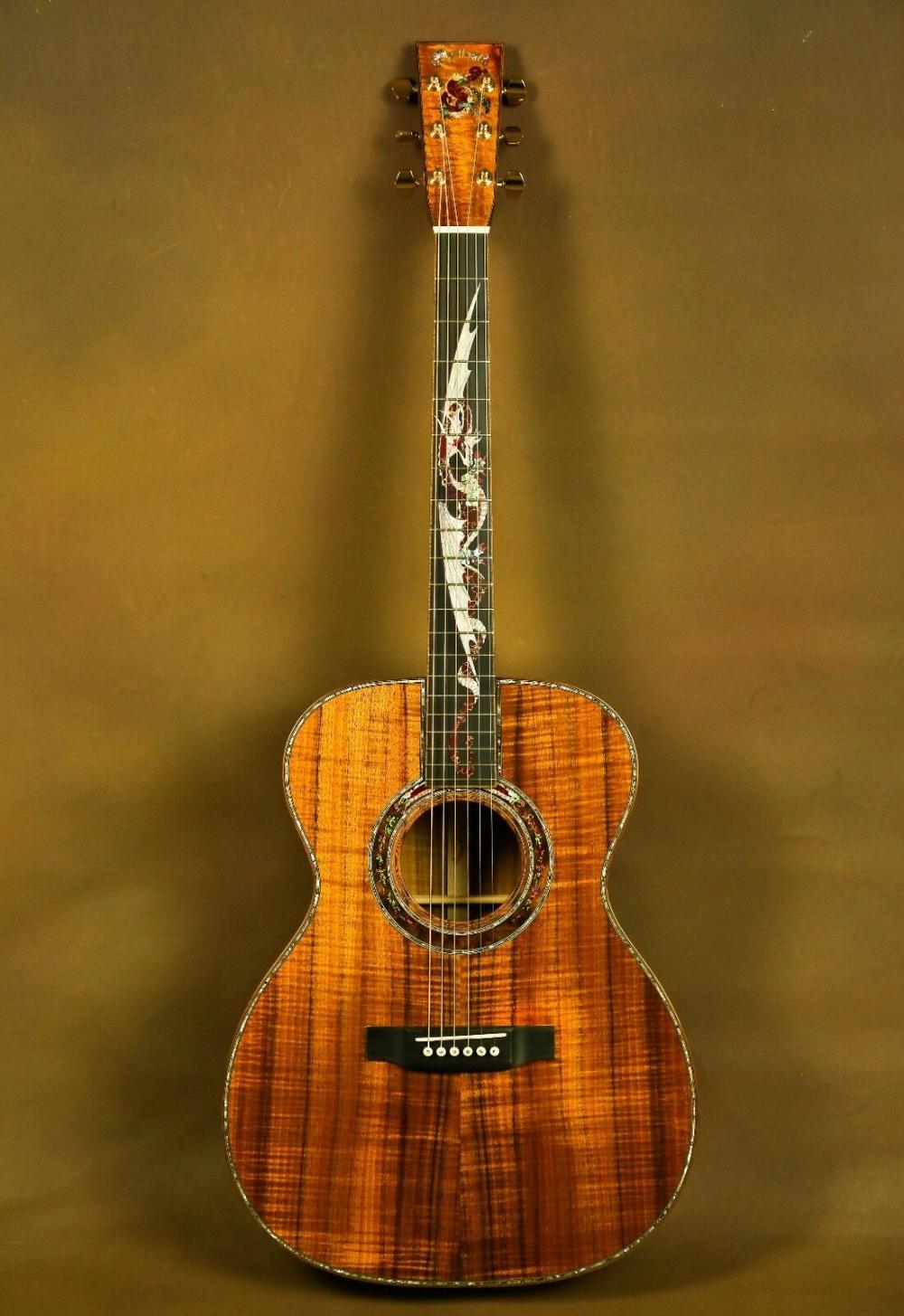 Martin Om 45 Dragon Koa Custom Acoustic Guitar Ebay In 2021 Custom Acoustic Guitars Martin Acoustic Guitar Martin Guitar