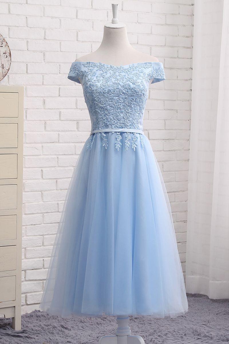 Cute A Line Lace Off Shoulder Prom Dress Lace Evening Dresses