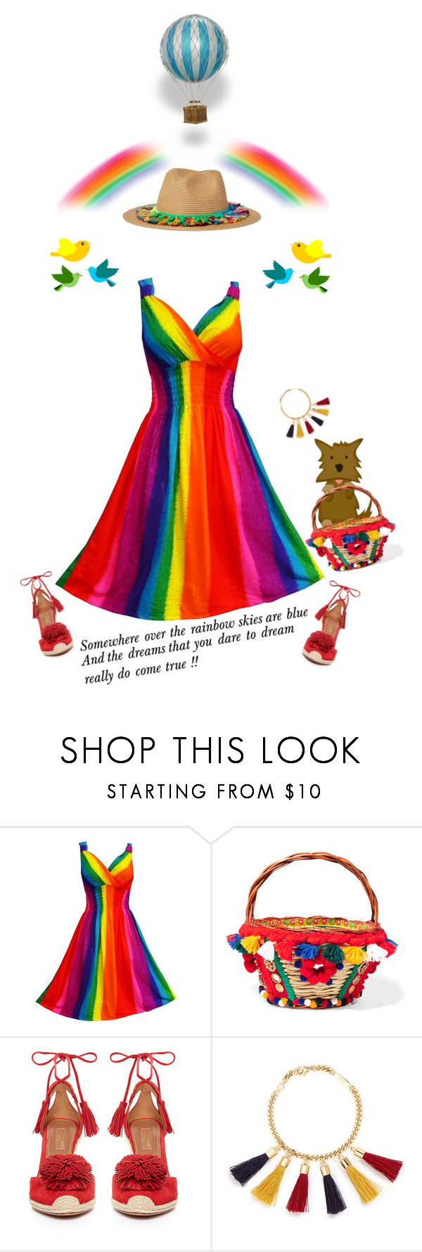 """""""Over the Rainbow'"""" by dianefantasy ❤ liked on Polyvore featuring Dolce&Gabbana, Aquazzura, Chloé, pride, polyvorecommunity and polyvoreeditorial"""
