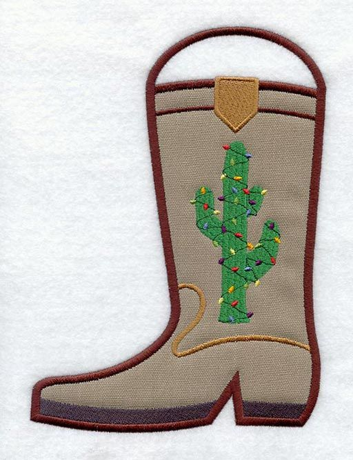 Cowboy Boot Stocking (In-the-Hoop)   Embroidery designs ...