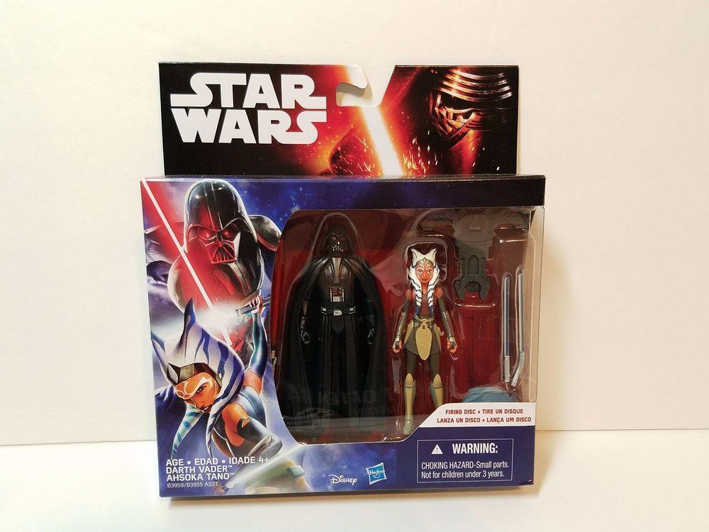 DARTH VADER /& AHSOKA TANO Star Wars Rebels Animated Series Figures 2-pack 2015