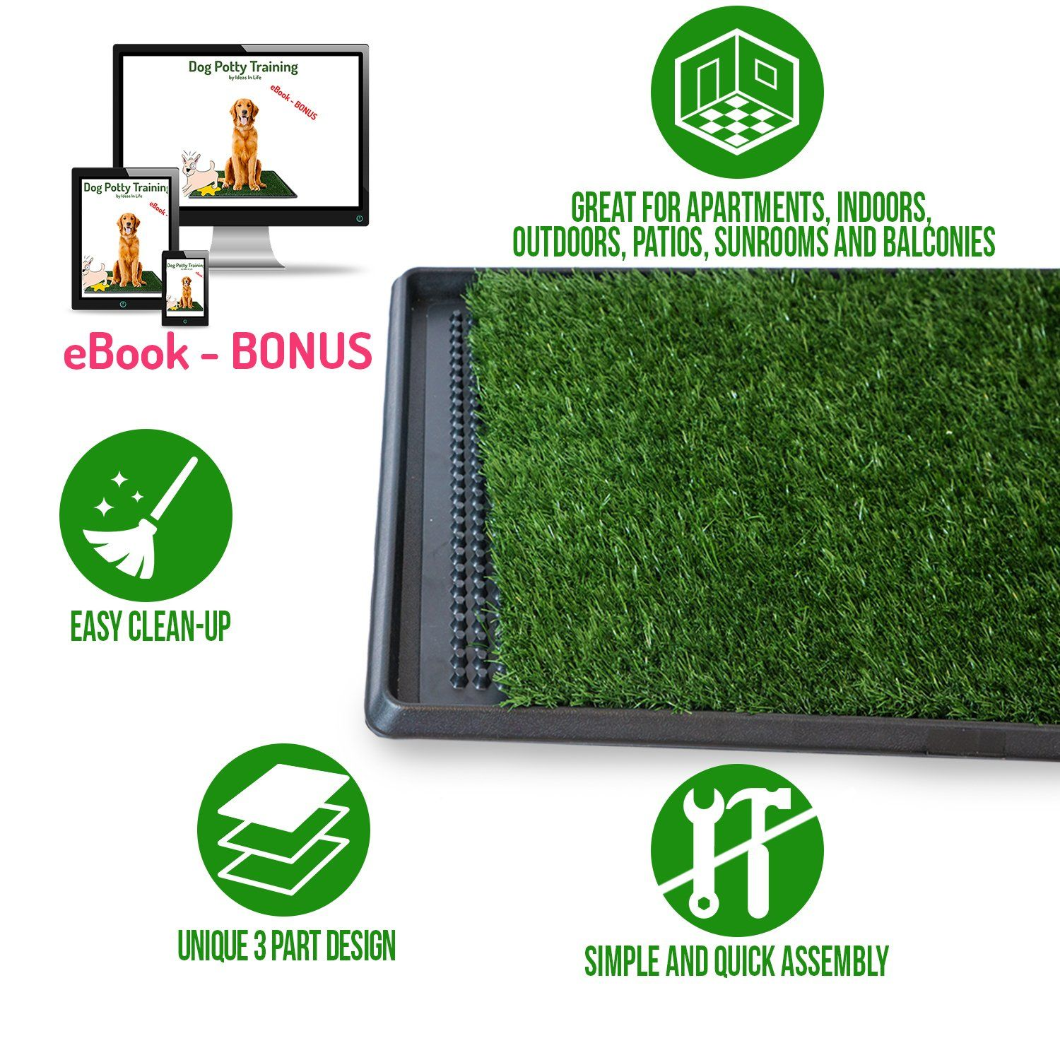 Ideas In Life Dog Potty Grass Pee Pad C Artificial Pet Grass Patch For Dogs To Pee On Great For Puppy Potty Training Dog Potty Potty Training Puppy Pet Grass