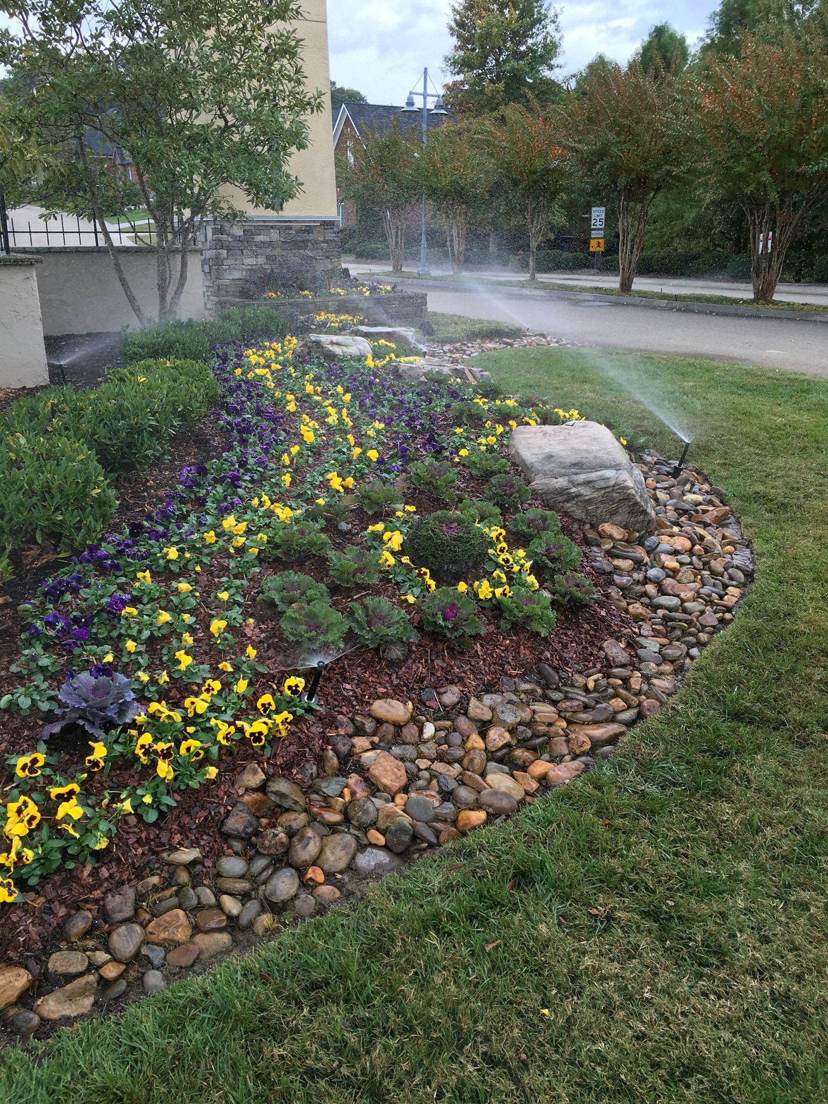 Fall landscaping , front entrance to a subdivision | Landscaping ...
