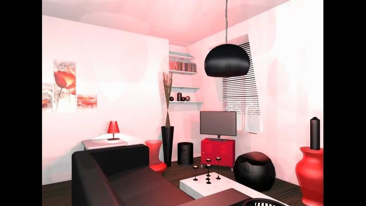 Salon Rouge Blanc Noir deco salon noir blanc rouge en 2020 | déco salon, salon noir