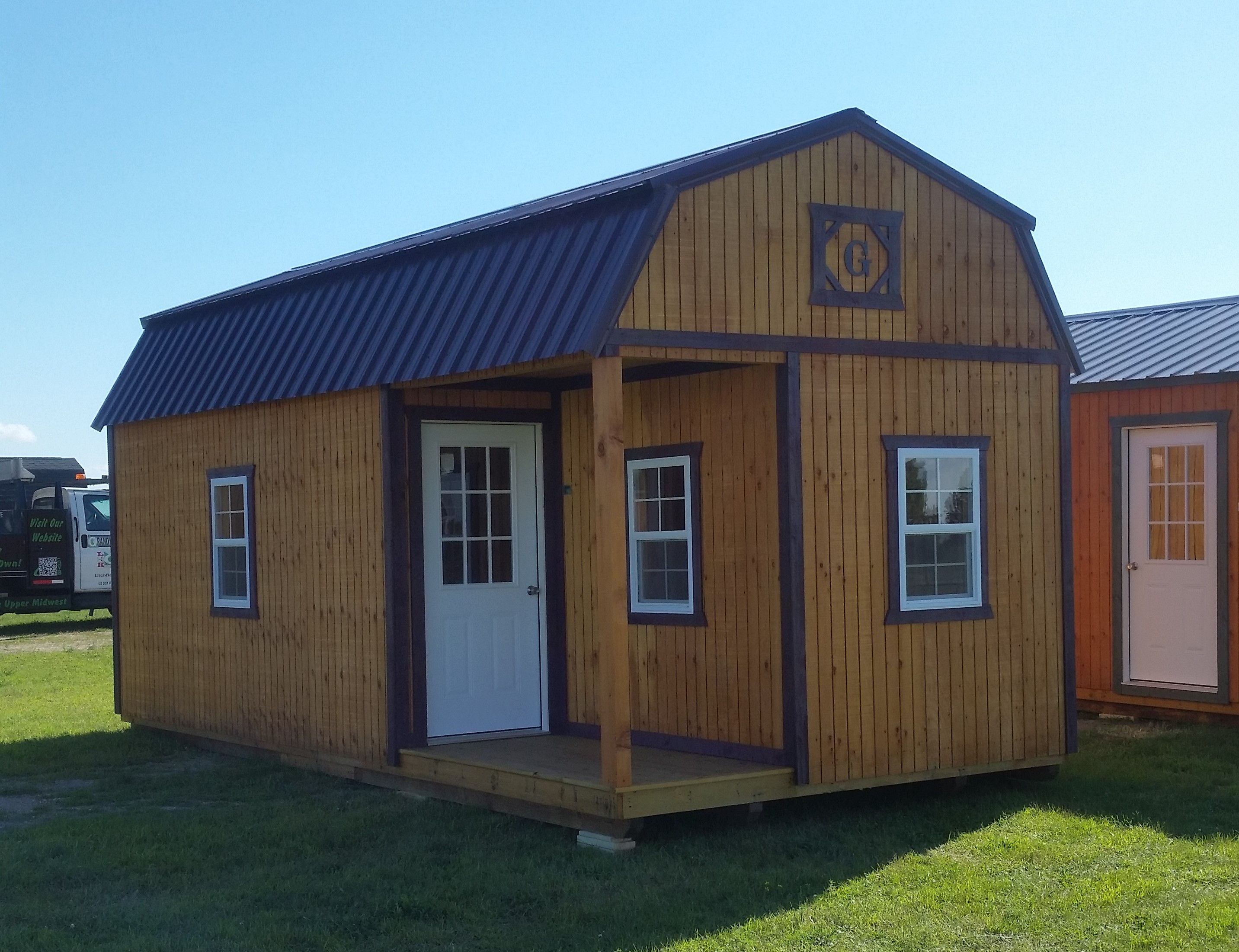 Best 12X24 Lofted Barn Cabin With 4 X8 Porch On Left Side 400 x 300