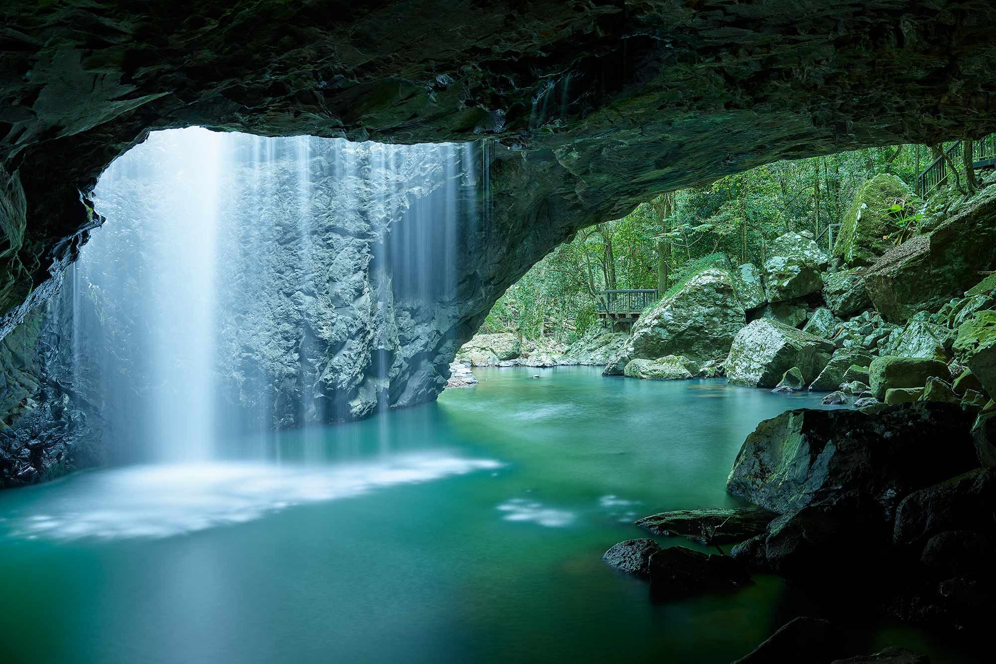 Crazy beautiful waterfall cave is crazy beautiful