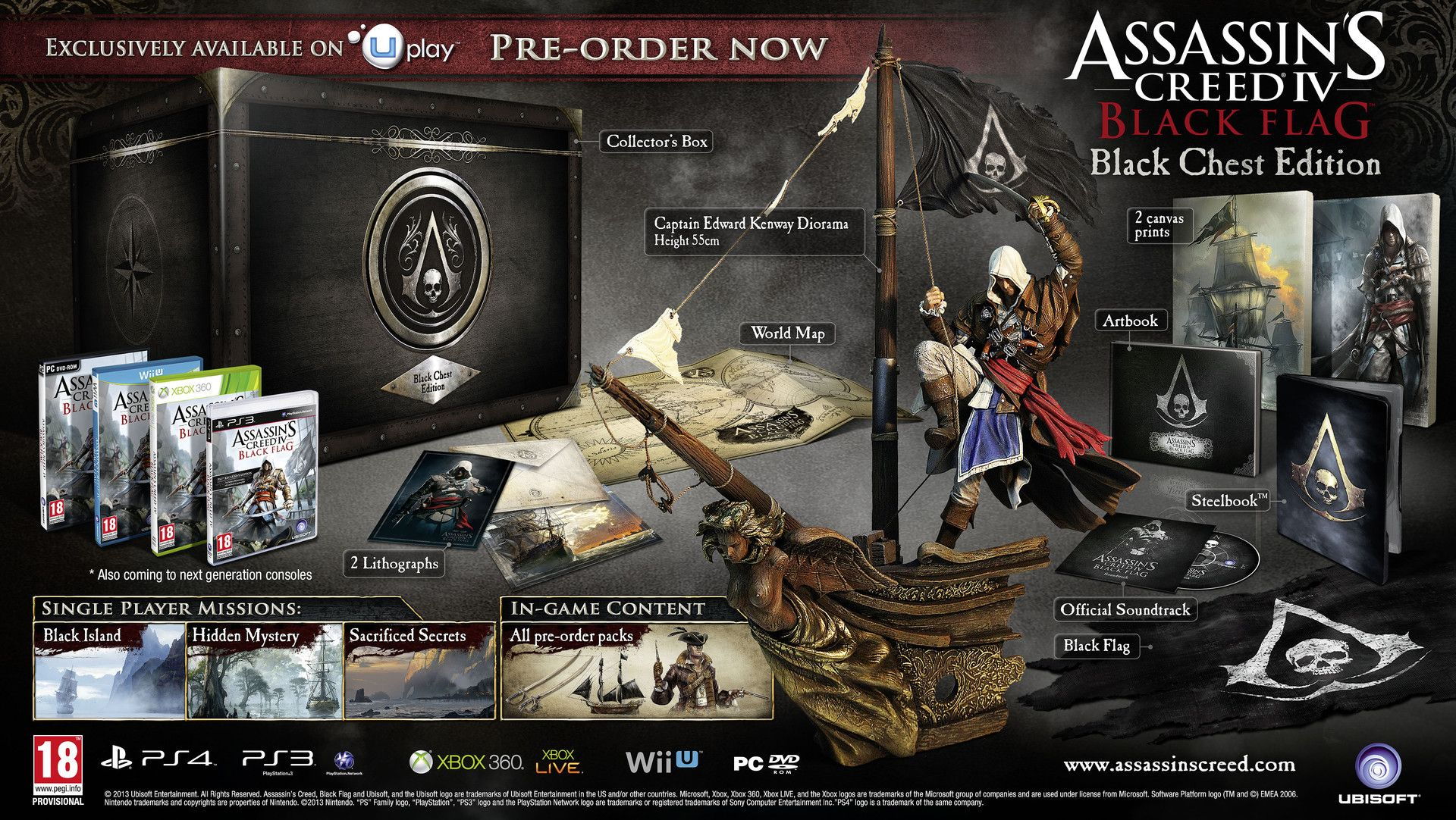 Assassins creed 4 collectors editions announced first gameplay assassins creed 4 collectors editions announced first gameplay footage revealed malvernweather Choice Image