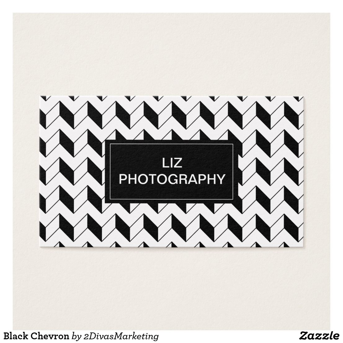 Black Chevron Business Card | 2 Divas Zazzle Store | Pinterest ...