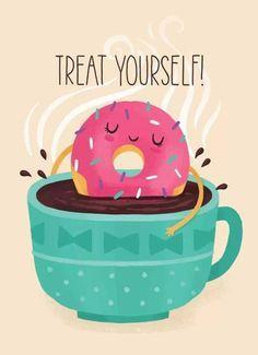 Coffee And Donuts Be Like Xoxo Donut Art Cute Art Cute Drawings