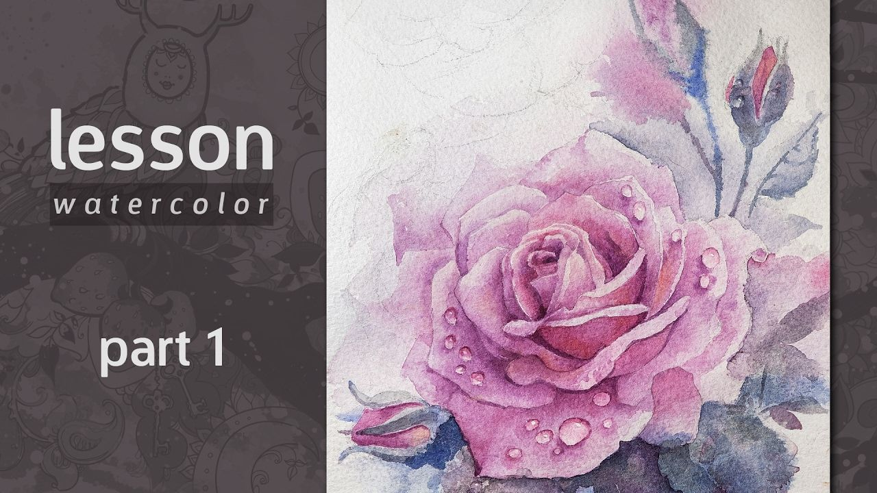 How To Draw A Rose Watercolor Tutorial Part 1 Watercolor