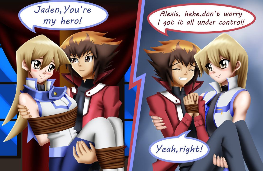 Ygo Gx Fianceshipping Rescue Scenes I Decided To Draw Another Scene Where Jaden Rescues Alexis From Her P Yugioh Anime Wolf Girl Anime Character Design