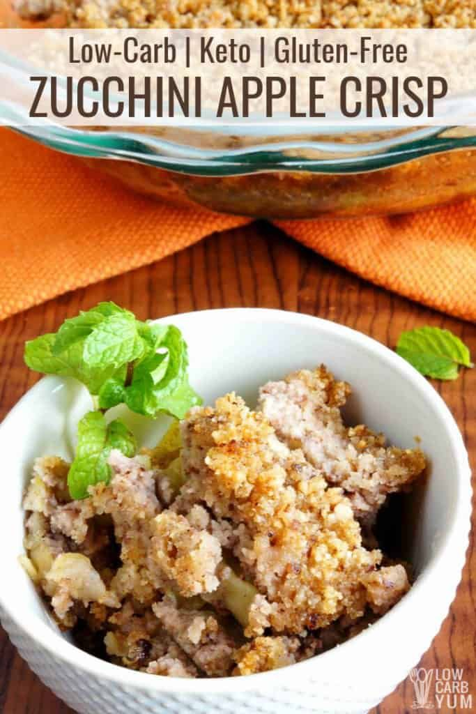Zucchini apple crisp is a healthy keto alternative that
