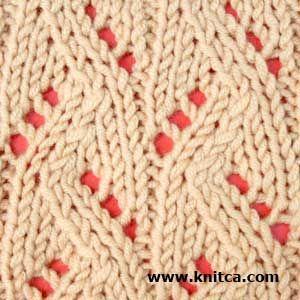 Right side of knitting stitch pattern – Lace 7