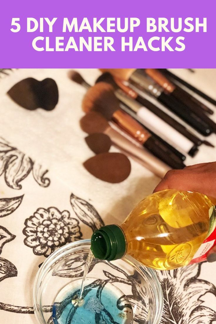 5 DIY Makeup Brush Cleaners to Deep Clean Your Brushes