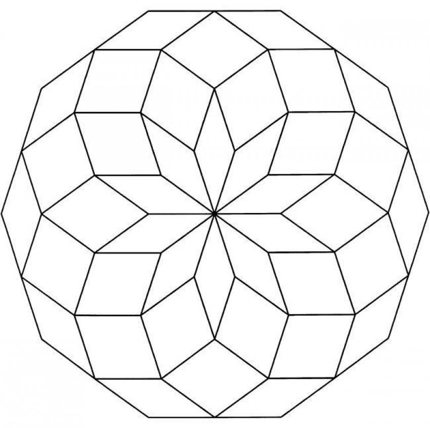 Mandalas for BEGINNERS - Mandala 6 만다라 Pinterest Geometría