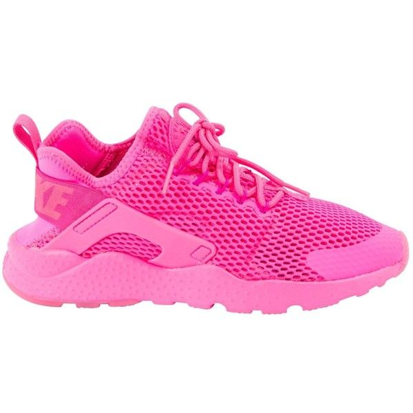 best sneakers 83153 7b73a Pre-owned Nike Huarache Cloth Trainers ( 109) ❤ liked on Polyvore featuring  shoes, sneakers, pink, women shoes trainers, pre owned shoes, neon shoes,  ...