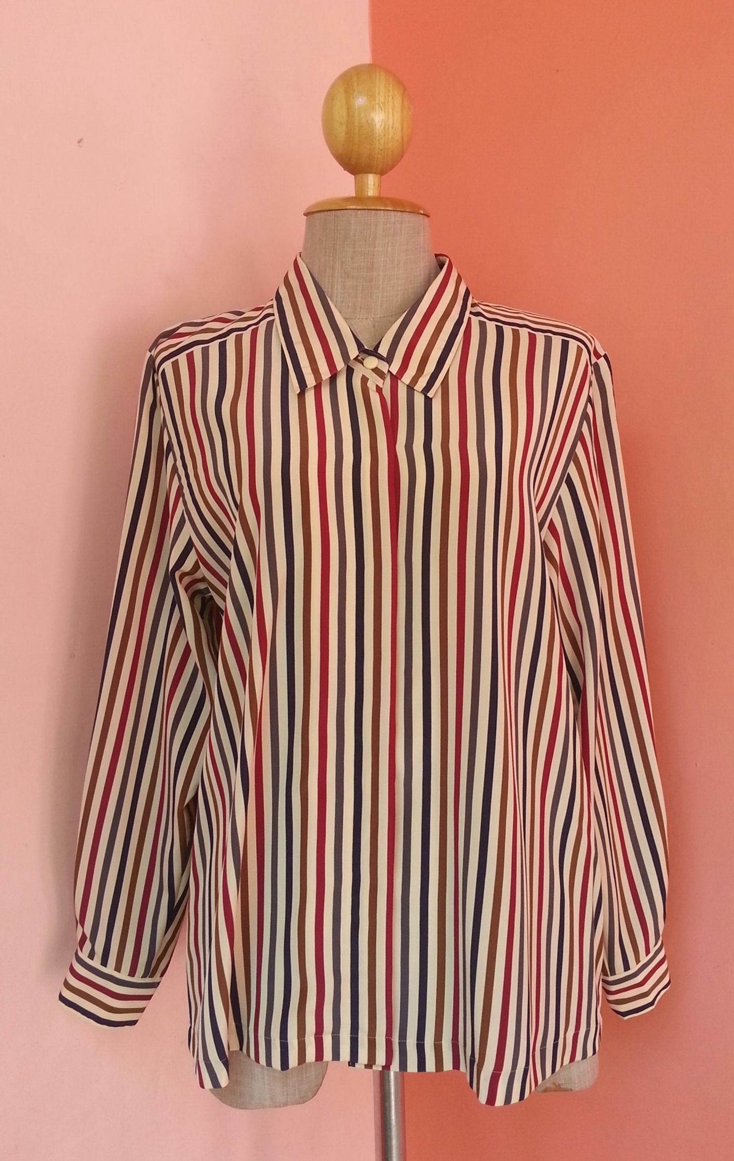 c87c5c39480e3 PIERRE BALMAIN Striped Shirt Large