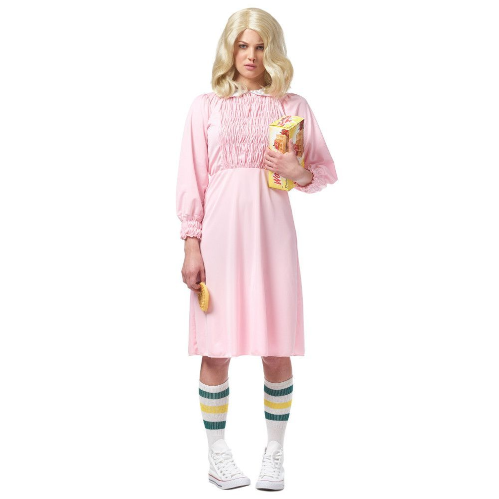 Pink dress from stranger things  Womenus Strange Girl Pink Costume Dress  Pink costume and Products