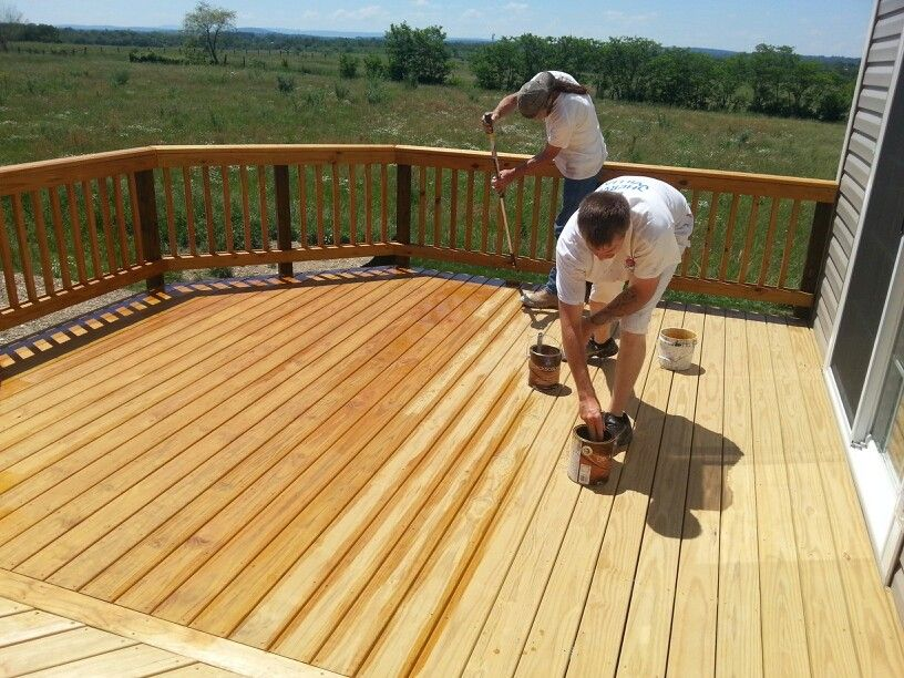 Goswpro Staining A Deck With Deckscapes Natural Toner