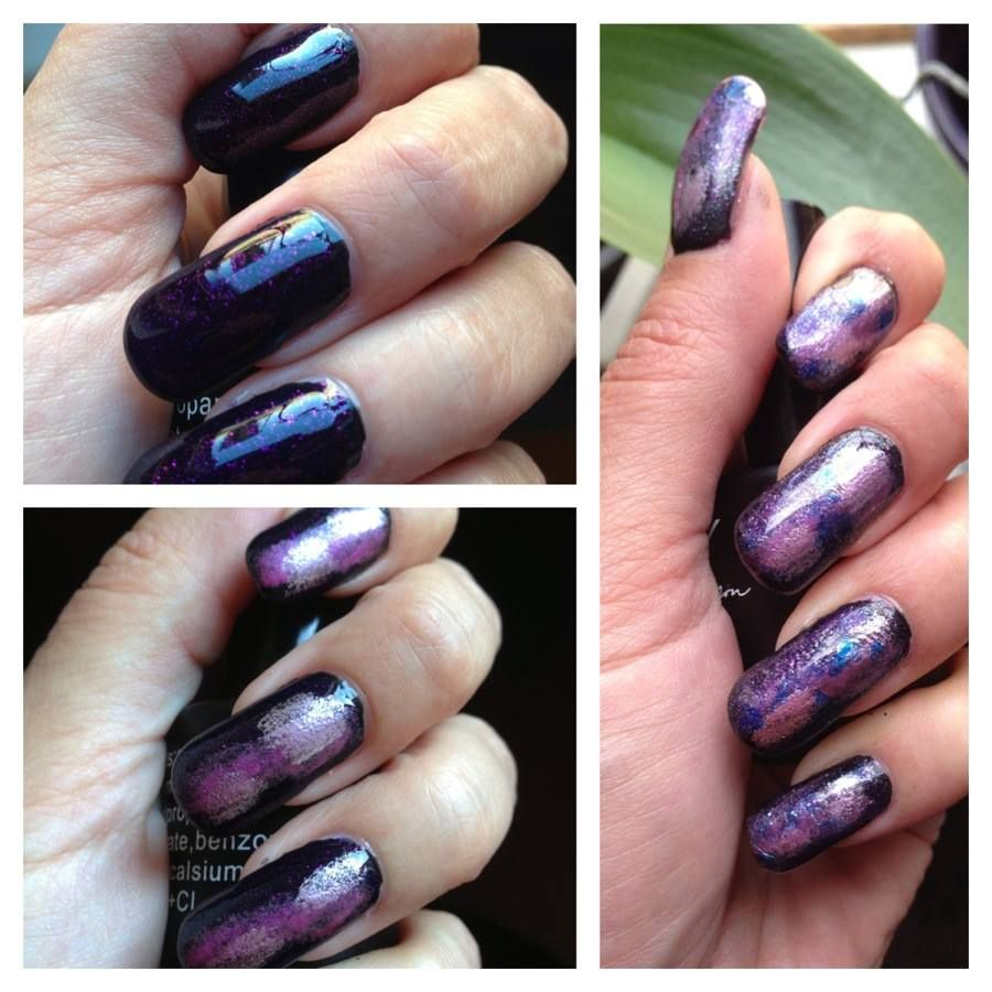 My Galaxy nails My NailArt Pinterest Galaxy nail