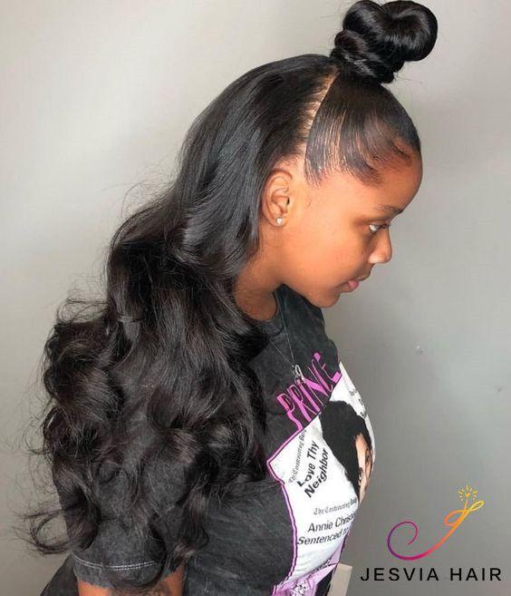 3 Bundles Deal Brazilian Hair Body Wave Jesvia Hair Girl Hairstyles Curly Hair Styles Down Hairstyles