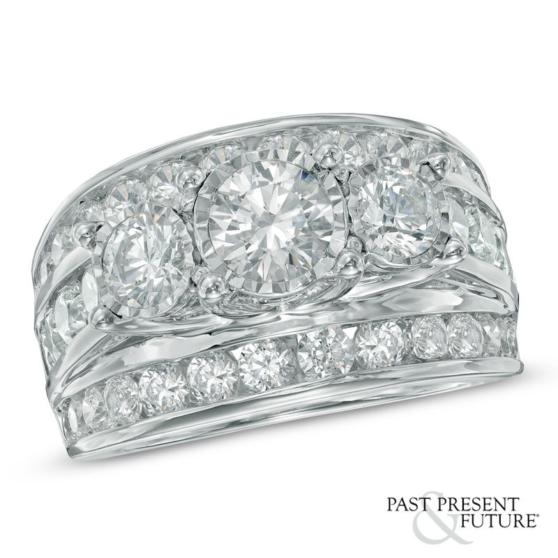 p ring future cluster wedding present past thin rings gold wh diamond