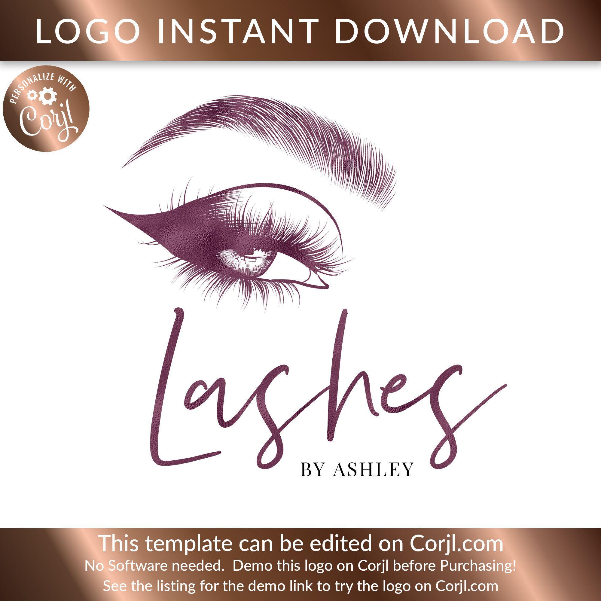 Lash Logo Design, Eyelash Logo Design, Eyelash Logo, Logo
