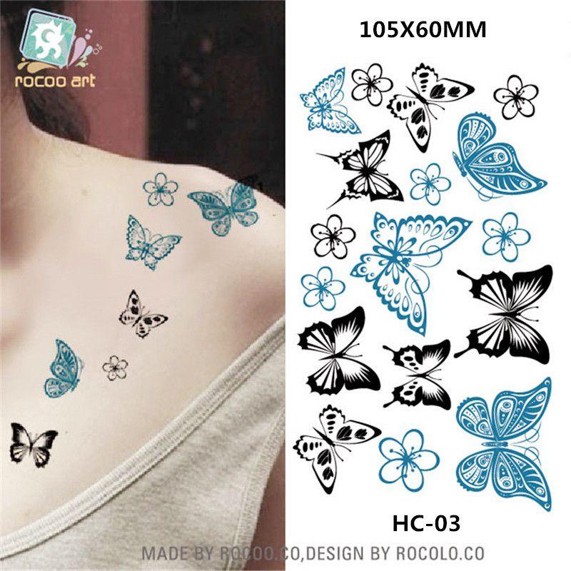 Photo of Body Art wasserdicht temporäre Tätowierungen für Männer und Frauen sexy 3d Schmetterling Design kleine Tattoo-Aufkleber Großhandel HC1003 | am besten online kaufen