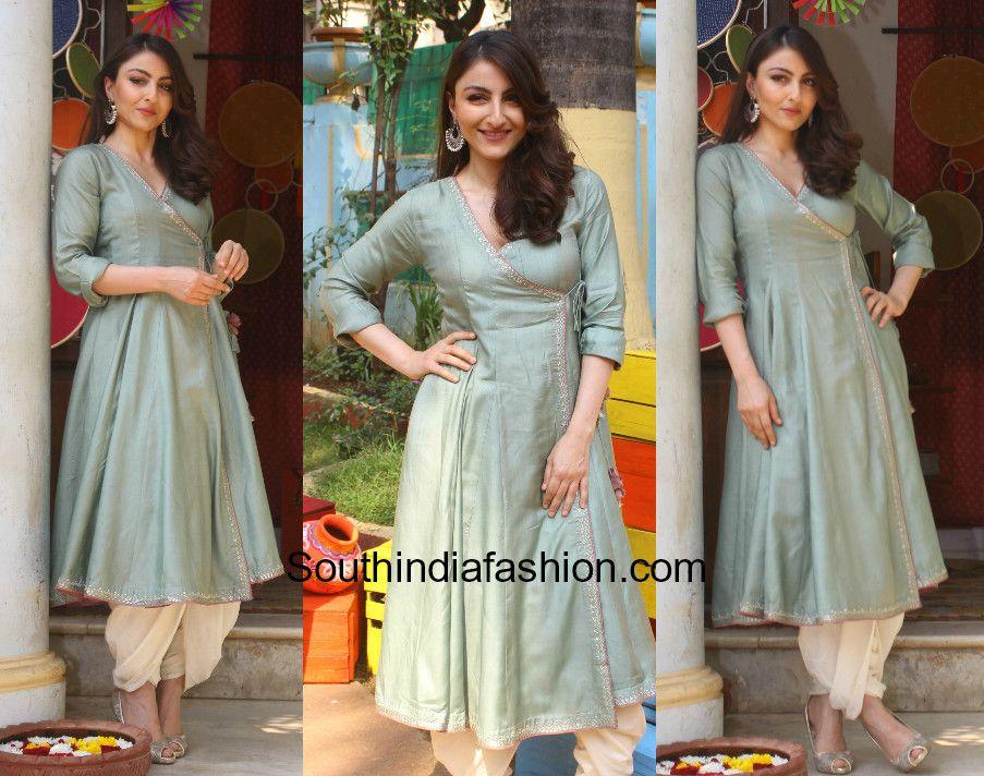 00a1006d99 Soha Ali Khan in Jaypore angrakha kurta and dhoti pants | Celebrity ...