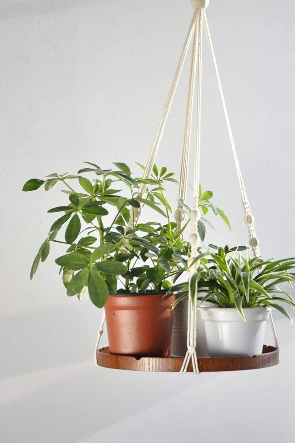 Amazon.com: TIMEYARD Macrame Plant Shelf Hangers - Indoor Hanging Planter Decorative Pot Holder, Handmade Boho Chic Home Decor with Wood Beads: Garden & Outdoor