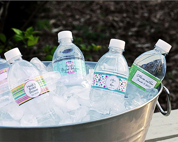 Hydrating Your Guests DIY Modern Wedding Water Bottles Wedding - Small water bottle label template