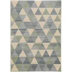 Photo of benuta short pile carpet Justin turquoise 200×290 cm – Modern carpet for living room benuta