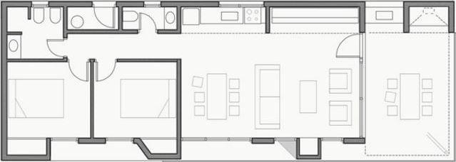 Plano De Casa De 4 Metros De Ancho Por 8 Metros De Largo Planos De Casas Planos Arquitectonicos De Casas Planos De Casas Pequenas