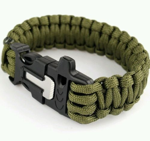 Paracord Tactical Military Survival Bracelet With Flint Whistle