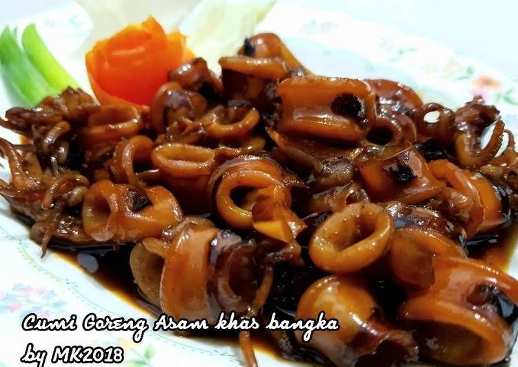 Resep 6 Cumi Goreng Asam Khas Bangka Simple Bikinramadanberkesan Oleh Mutiara Kendirli Resep Resep Seafood Resep Resep Masakan