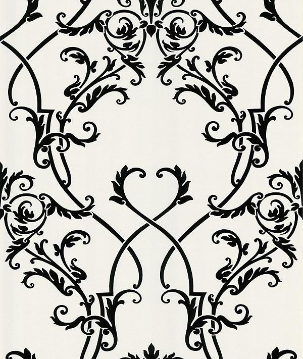 Candela Black Chandelier Wallpaper With Images Damask